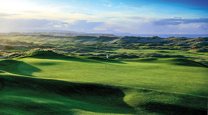 Portrush Golf Course. The venue for The Open 2019